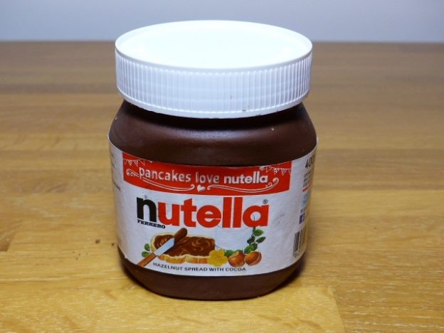 Chocolate nutella jar cake