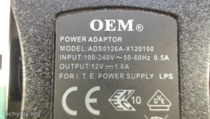 12 Volt power supply spec