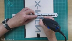 Engrave acrylic mirror with Dremel