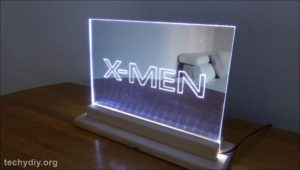 Xmen led edge lit sign daytime