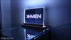Xmen led edge lit sign evening