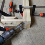 Drilling corner dowel holes with jig