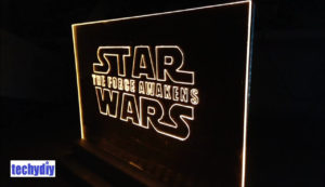 Star Wars led edge lit sign