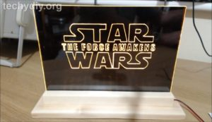 Star Wars led edge light sign