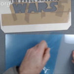 Star Wars Led Edge Lit Sign - Engrave Acrylic - remove backing