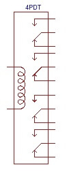 4PDT Relay circuit symbol