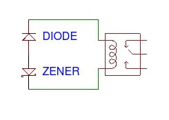 Relay snubber diode and zener