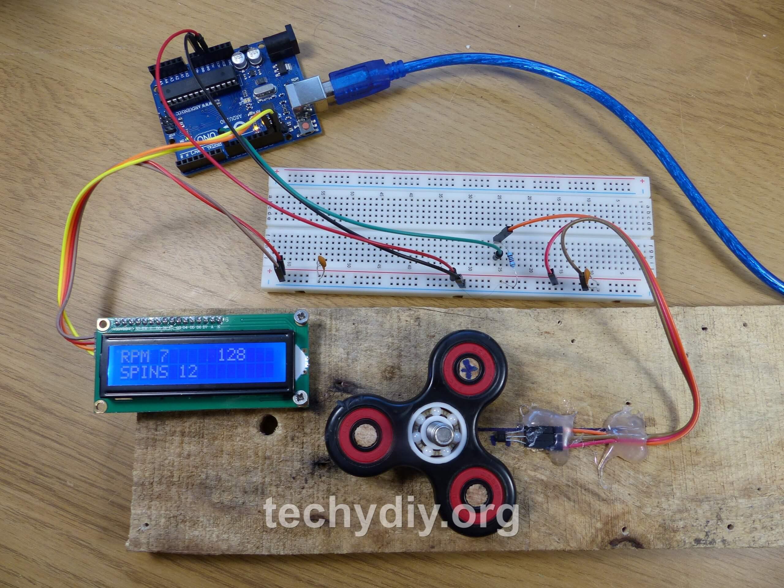 8431 RPM Fidget Spinner – Arduino Tachometer | Techydiy