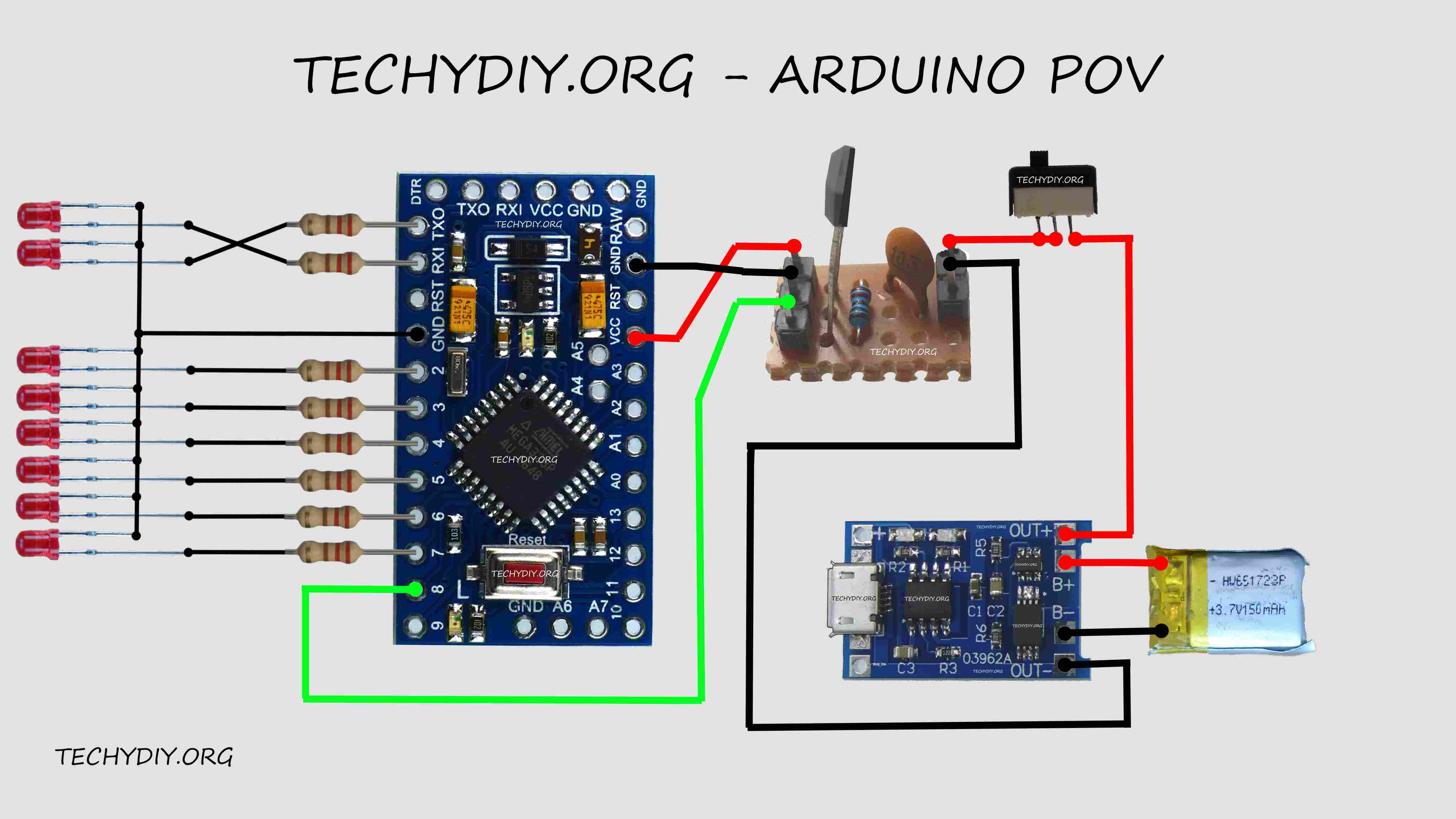 How To Make An Arduino Pov  Persistence Of Vision  Display