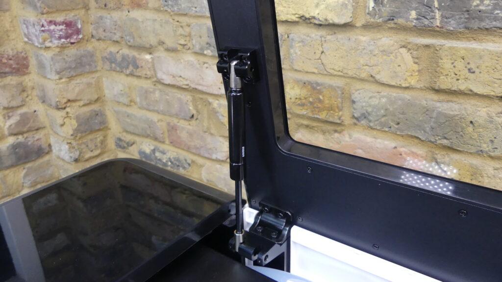 Laserbox Pro Lid Hinge & Gas Strut