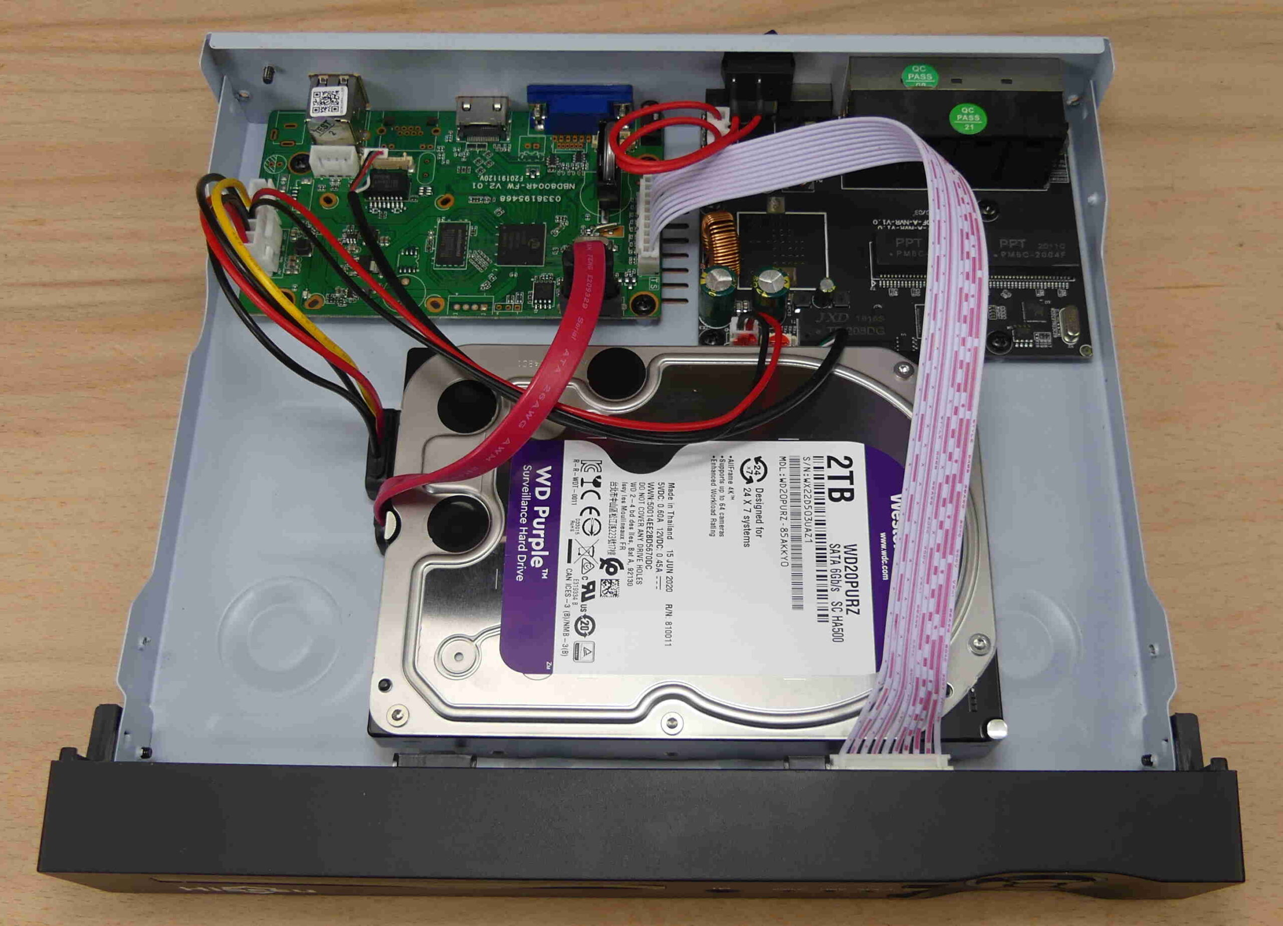 Hisseu 5MP NVR drive installation
