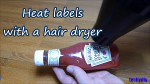 11 gummy heat labels with hair dryer
