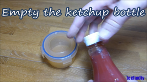 13 gummy empty ketchup bottle
