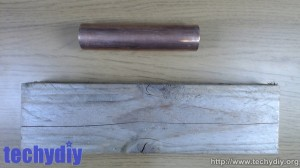 Copper pipe and wood