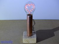 Led Heart Light Bulb